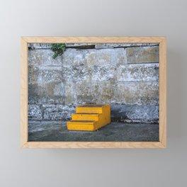Yellow Steps Framed Mini Art Print