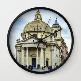 Santa Maria in Montesanto Church Piazza del Popolo, Rome Wall Clock