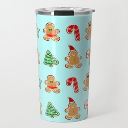 Naughty or Nice Gingerbread Travel Mug