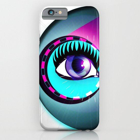 Halftone Eyeball iPhone & iPod Case