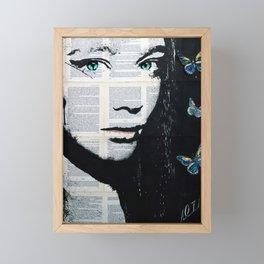 Yekaterina with butterflies Framed Mini Art Print