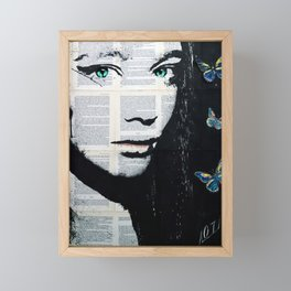 Yekaterina with butterflies Framed Mini Art Print