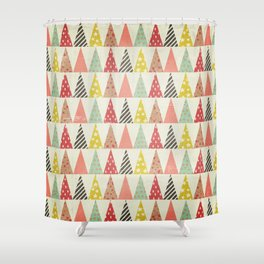 Whimsical Christmas Trees Shower Curtain