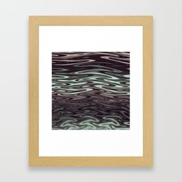 Ripples Fractal in Mint Hot Chocolate Framed Art Print