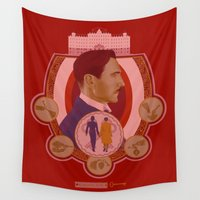 budapest Wall Tapestries featuring Grand Budapest by Jessica Gawinski