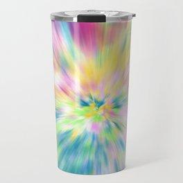 Pastel Explosion Tie Dye Abstract Travel Mug