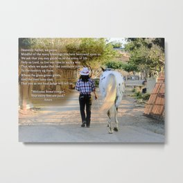 The Cowgirl's Prayer Metal Print