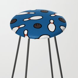 Bowling for Pins Pattern Counter Stool