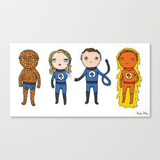 Super Cute Heroes: Fantastic Four Canvas Print