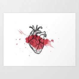 Anatomical heart - Art is Heart  Art Print
