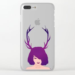 Jackalope Lady Clear iPhone Case