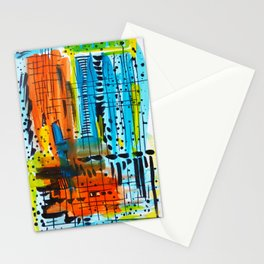 Rain of color Stationery Cards