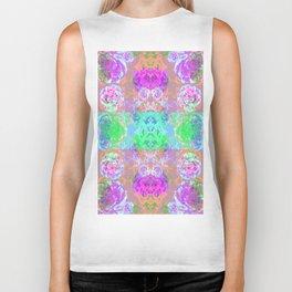 Neon Blossom print  Biker Tank
