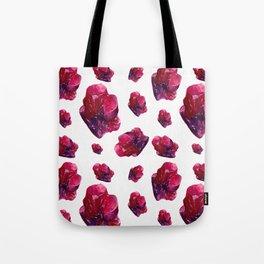 Ruby Birthstone Watercolor Illustration Tote Bag