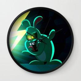 Evil Bunny Wall Clock