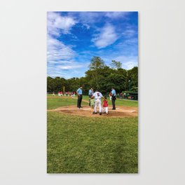 Umpire Meeting Canvas Print