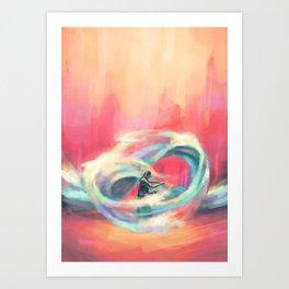 Waterbender Art Print