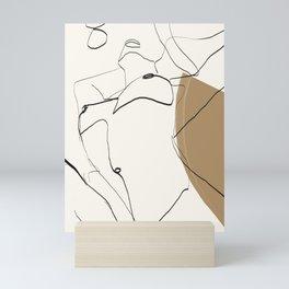 abstract nude 2 Mini Art Print