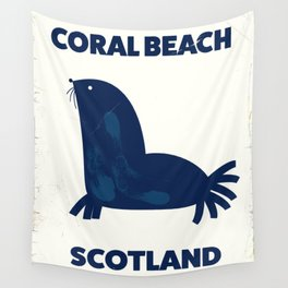 Coral Beach Scotland Wall Tapestry
