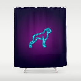 NEON BOXER DOG Shower Curtain