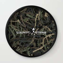 Counter strike weapon camouflage Wall Clock