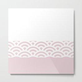 Rainbow Trim Pale Pink Metal Print