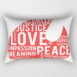 Fire flame and virtues Rectangular Pillow