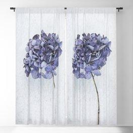 Dried Blue Hydrangea Blackout Curtain