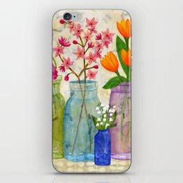Springs Flowers in Old Jars iPhone Skin