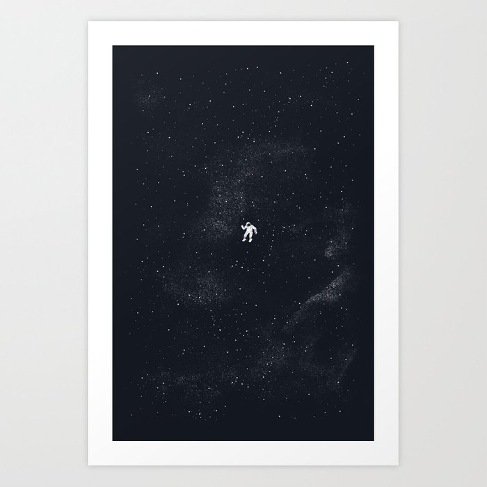 Gravity - Dark Blue Art Print