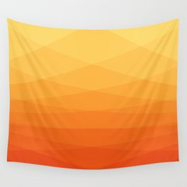 Orange and yellow ombre polygonal geometric pattern Wall Tapestry