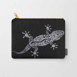 Ornate Lizard (b&w version) Carry-All Pouch