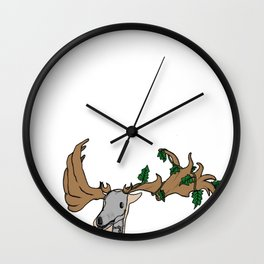 Irish Ivy Elk Wall Clock