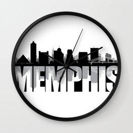 Memphis Silhouette Skyline Wall Clock