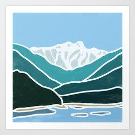 North Shore Lions Mountains Art Print