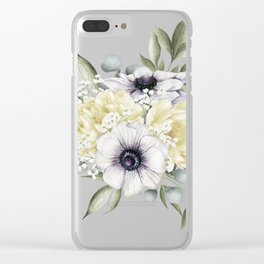 Shabby Cream Clear iPhone Case