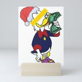Scrooge Rich Men Smelling Money GOLD MOneY christmas Mini Art Print