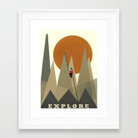 explore Framed Art Prints featuring Explore by bri.buckley