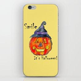 Smile, it's Halloween! iPhone Skin
