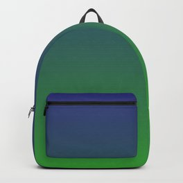 Ombre | Blue and Green Backpack