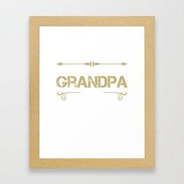 World's Best Grandpa Ever - Cool gift for G-PA Framed Art Print