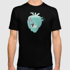 Drowning in love Black MEDIUM Mens Fitted Tee