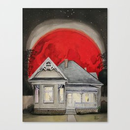 Blood Red Moon Canvas Print