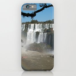 Iguazu Iguassu Waterfall Landscape Panorama Scenery, Brazil Argentina 6 iPhone Case
