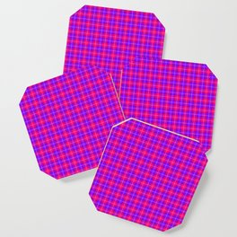 Crazy Pink and Purple Plaid Coaster