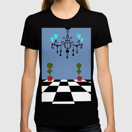 A Chandler with Checkered Tile and Topiaries T-shirt