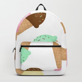 Ice Cream Pattern Backpack
