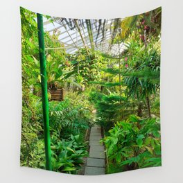 Tropical Green House Wall Tapestry