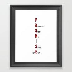 BWR No. 4 Promise (White) Framed Art Print