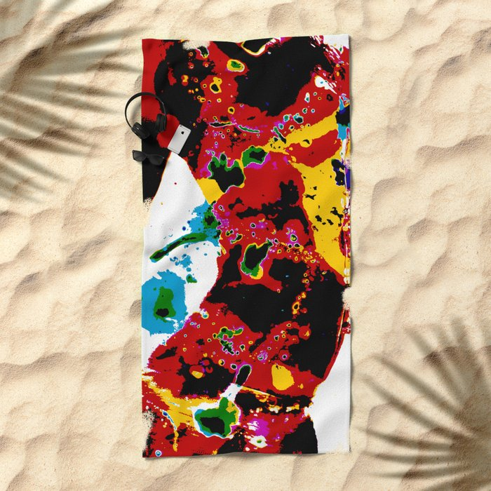Bokeh Beach Towel